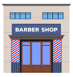 front view of a barber shop vector image