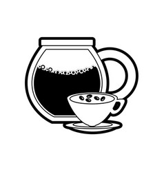 Glass jar coffee vector
