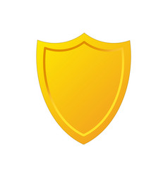golden shield icon in cartoon style stock vector image