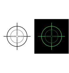 gun sight crosshairs bullseye vector image