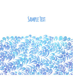 hand drawn pattern background vector image