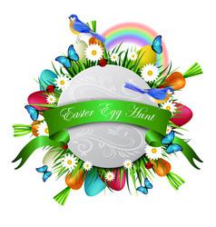 happy ester card vector image