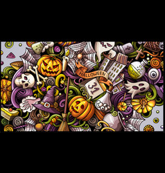 Happy halloween doodle vector