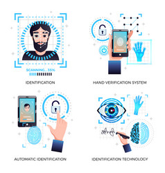 identification technologies concept vector image