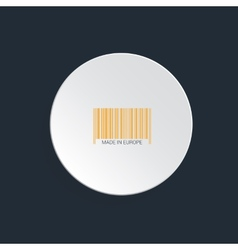 Isolated bar code vector image