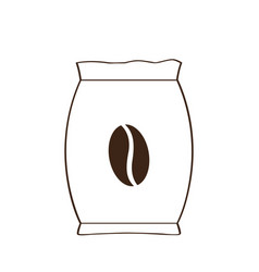 isolated coffee sack icon vector image