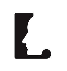 L l logo logotype - english font upper case letter vector