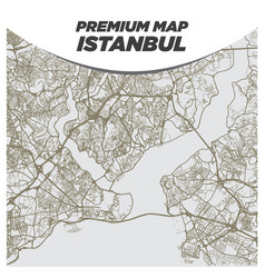 light neutral beige and brown map istanbul vector image