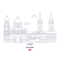lodz city skyline vector image
