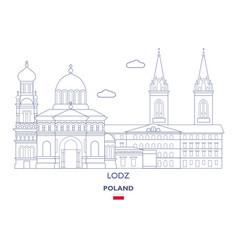 lodz city skyline vector image