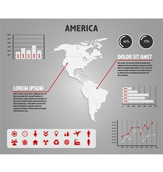 Map of America - infographic vector image