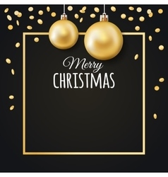 Merry Christmas background with place for text vector