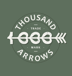 modern professional emblem thousand arrows vector image