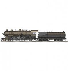 old locomotive vector image vector image