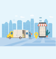 online delivery of goods tracking online tracker vector image