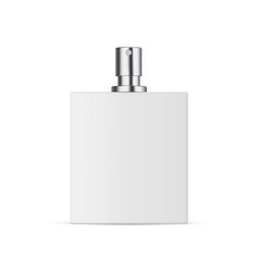 Opened perfume bottle mockup isolated vector