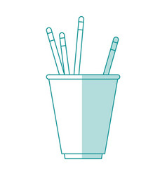 Pencils and cup design vector