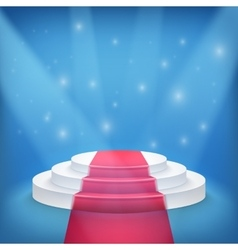Photorealistic Winner Podium Stage with Blue Stage vector image