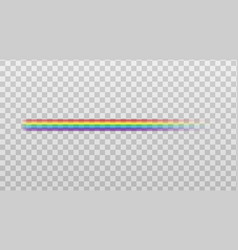 rainbow color straight line icon mockup realistic vector image