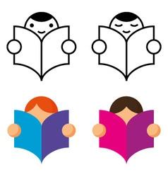 Readers icon vector image
