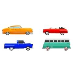 Retro car vehicle vector