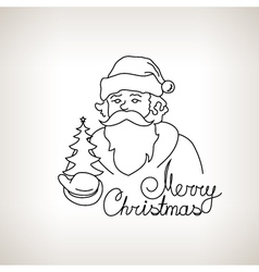 Santa Claus on a Light Background vector