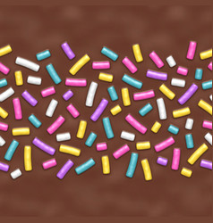 seamless background chocolate donut glaze vector image