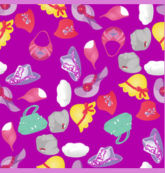 seamless pattern of womens accessories vector image