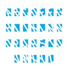 set alphabet symbols vector image