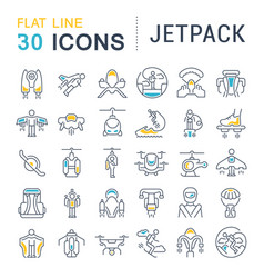 set line icons jetpack vector image