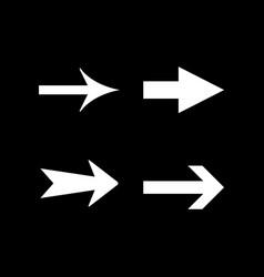 set modern icons arrow vector image