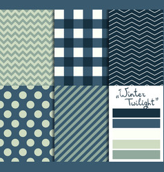 Set of 5 simple seamless geometric patterns vector