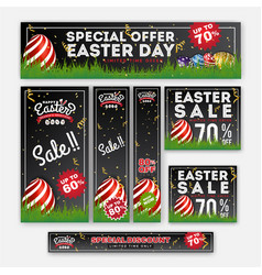 Set of easter sale special discount web banner vector