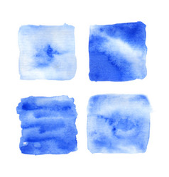 set of watercolor textures on white vector image