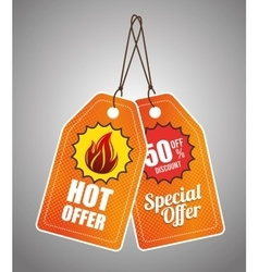 Shopping hot offers and discounts vector image
