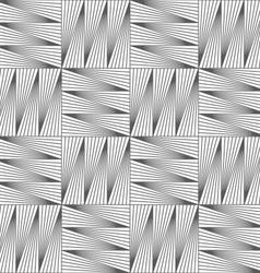 Slim gray striped squares in grid vector image