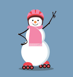 snowman-roller vector image