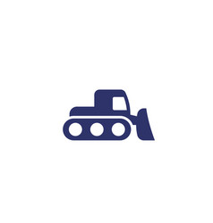 snowplow icon on white vector image