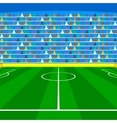 Soccer field with Line and Grass Texture vector