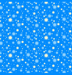 starry night seamless pattern vector image