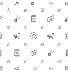 Stars icons pattern seamless white background vector