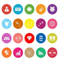 Stock market flat icons on white background vector