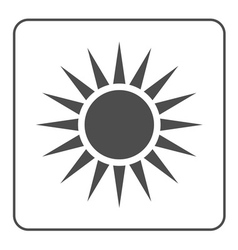 Sun icon Light sign sunbeams Gray vector image