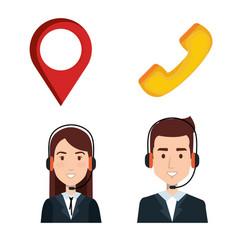 Taxi service call center operator set order vector