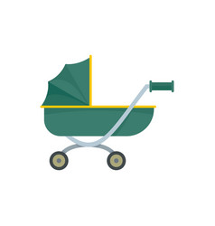 toy baby pram icon flat style vector image