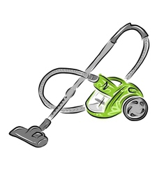 Vacuum cleaner sketch for your design vector