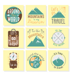 Vintage typography travel motivation badge nature vector