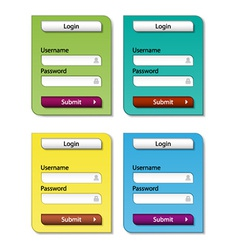 web form design templates vector image