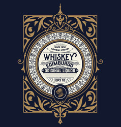 Whiskey card for packaging vector