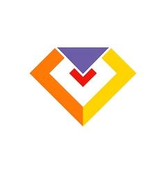 gem diamond sign jewelry logo vector image vector image